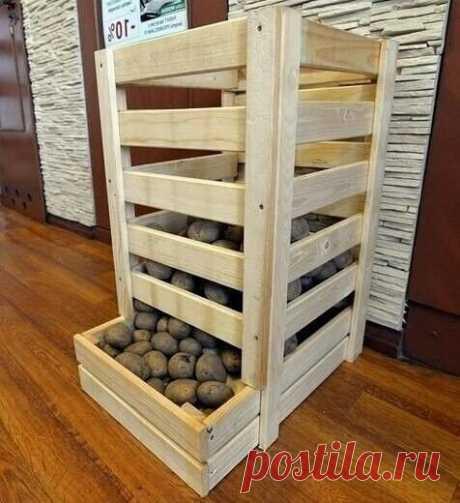 Простые идеи для хранения картошки и других овощей.