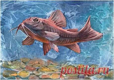 Рисуем рыбу акварелью: мастер-класс — Сделай сам, идеи для творчества - DIY Ideas