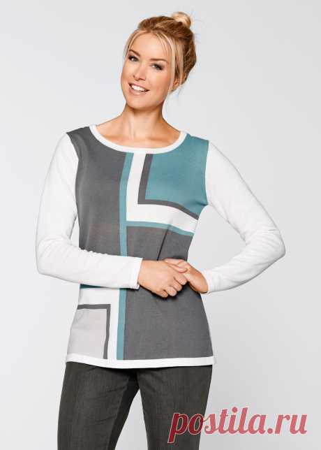 Пуловер цвет белой шерсти с рисунком - bpc bonprix collection - bonprix.ru
