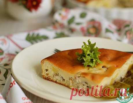 Заливной пирог с курицей и картофелем – кулинарный рецепт