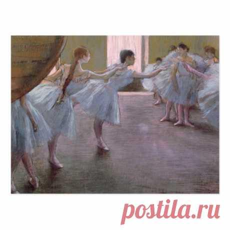 Edgar Degas | Dancers at Rehearsal, 1875-1877 Postcard | Zazzle.com
