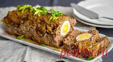 Мясной рулет с яйцом, пошаговый рецепт с фото