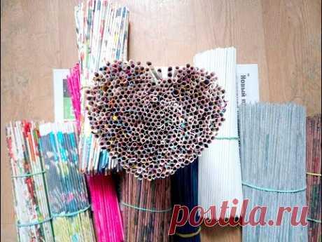 Трубочки бумажные как крутить быстро и просто. 200 трубочек за час. Основные ошибки. Бумажная лоза.