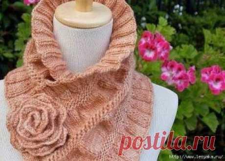 Красивые шарфы — воротники, вязанные своими руками! — HandMade