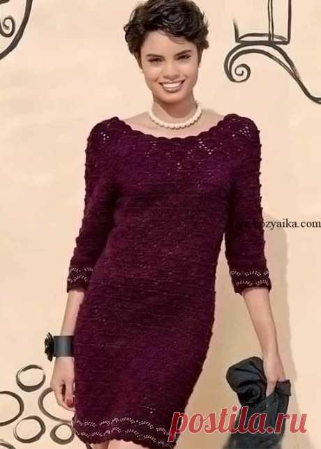 Вечернее платьекрючком описание. Красивое платье крючком с пошаговым описанием