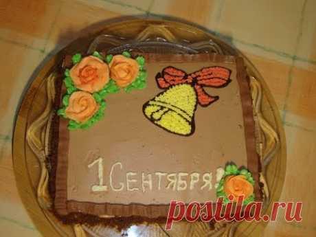 Торт на 1 сентября .