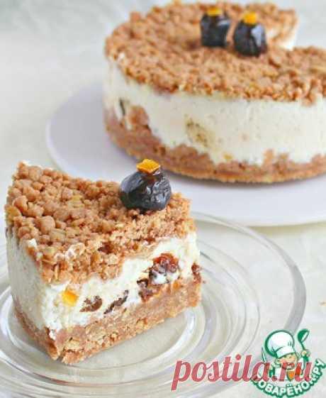 Творожный торфяной пирог с черносливом - кулинарный рецепт