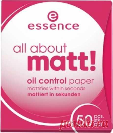 Матирующие бумажные салфетки «All about matt!», 50 штук — Купить за 845 тг.