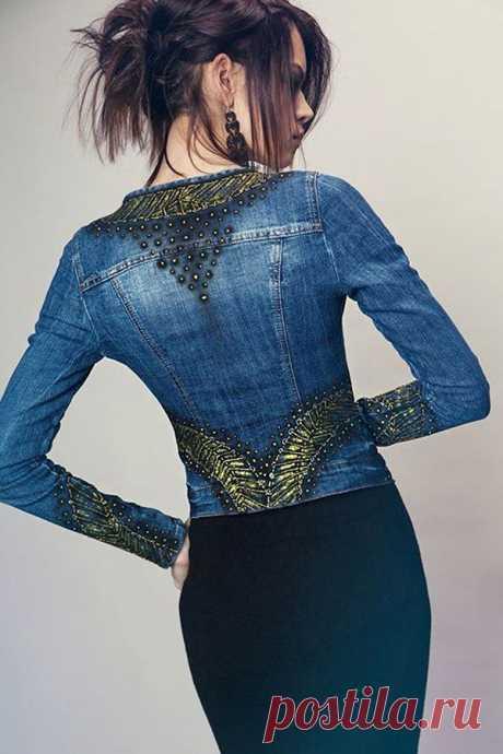 Многообразный декор джинсовых курток: более 20 потрясающих вариантов