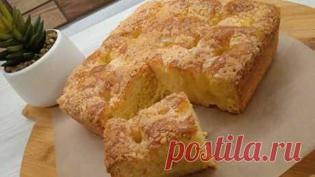 Мой любимый сахарный пирог: словно с заварным кремом внутри. Французский пирог со сливками. | Неправильная Мама | Яндекс Дзен