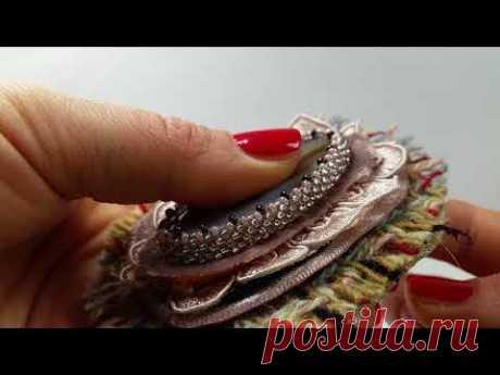 Как сделать брошь в винтажном стиле. В стиле Шанель. vintage brooch