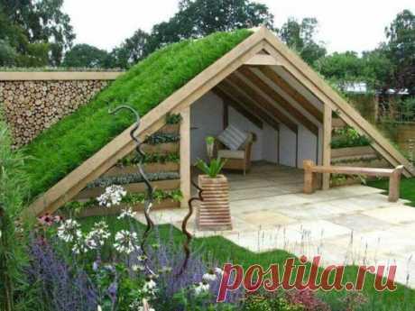 Зеленые крыши в вашем саду: 20 идей с мастер-классом | Тысяча и одна идея