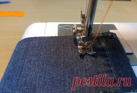 How to stitch a finishing line in three threads from one coil... Now this cunning is available not only the skilled seamstress!
