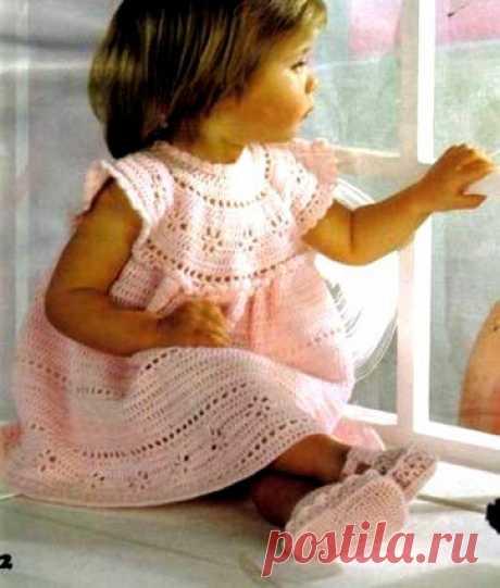 Платьица для маленьких принцесс крючком! | Вяжем, лепим, творим, малюем) | Яндекс Дзен