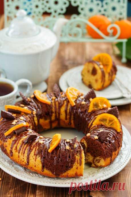 Мраморное шоколадно-апельсиновое кольцо. - Люблю готовить. — LiveJournal
