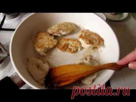 ▶ Сочные отбивные из филе курицы - YouTube