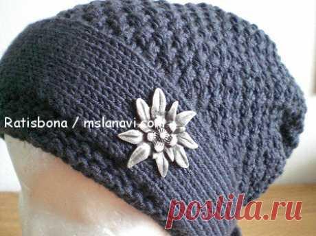 Вязаная шапка-бандана | Вяжем с Лана Ви