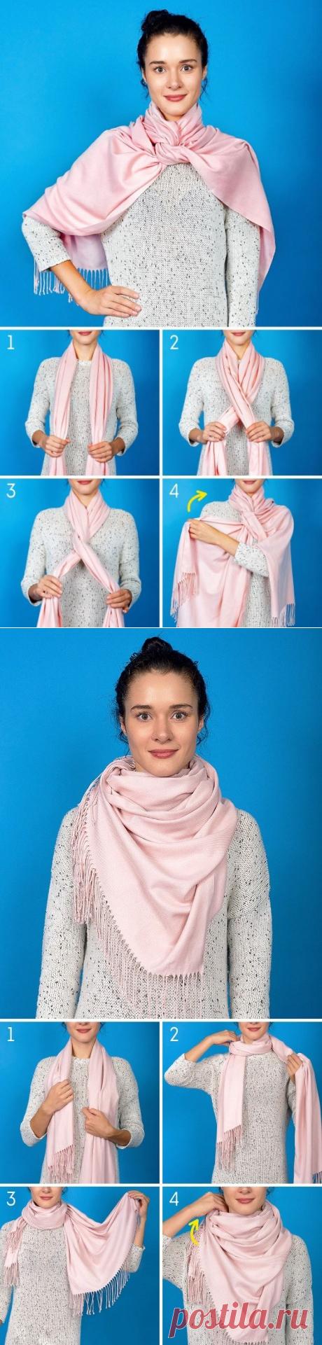Дополняем осенний образ с помощью шарфика