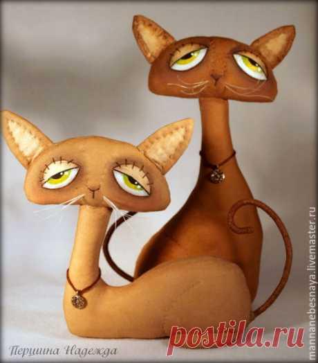 Шьём парочку кофейно-запеченых котиков Sadie и Jinx | Журнал Ярмарки Мастеров