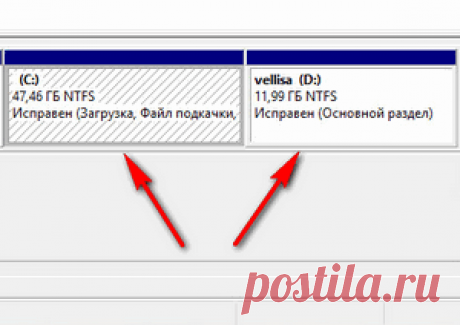 Увеличение или уменьшения диска «С» с помощью системного средства.