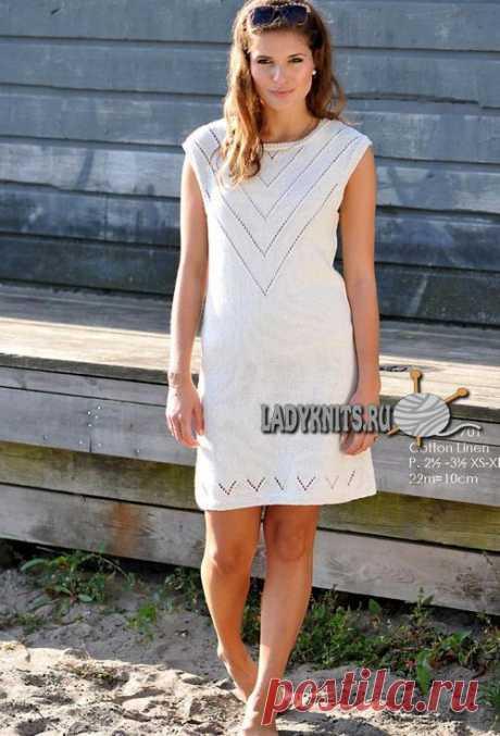 Knitted spokes summer openwork dress
