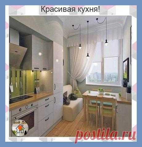 Все о дизайне интерьера Маленькая, да удаленькая кухня получилась!
