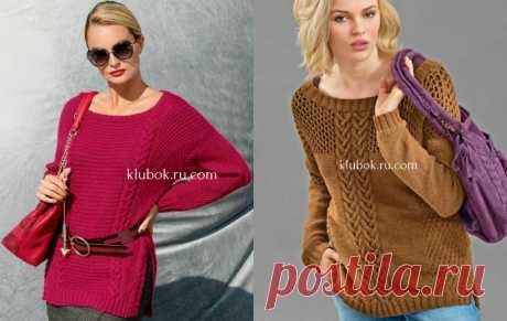 Модные удлиненные пуловеры спицами - Klubok.ru.com