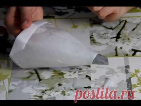 El saco Konditersky por las manos | Adornamiento de las tortas por la crema | la Parte 2