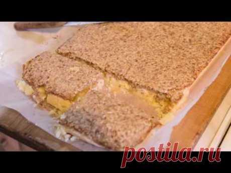 Песочный пирог с грецкими орехами, как запечь самый легкий пирог с песочным тестом