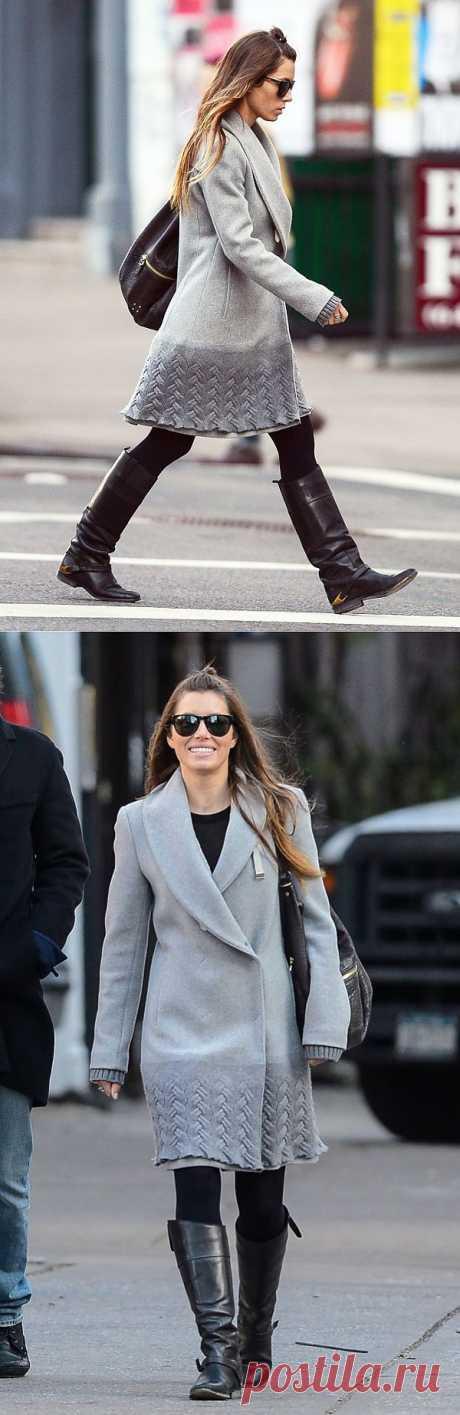 Пальто Jessica Biel / Пальто и плащ / Модный сайт о стильной переделке одежды и интерьера