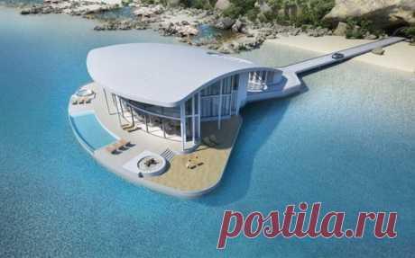 Проект шикарного дома на воде