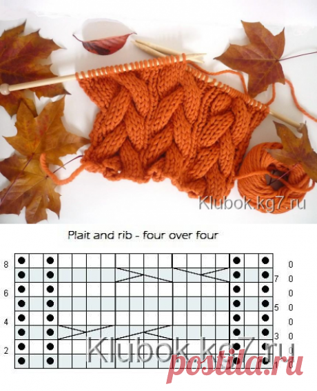 Оранжевый узор | Клубок