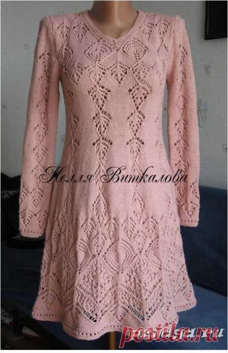 платье - шедевр спицами
