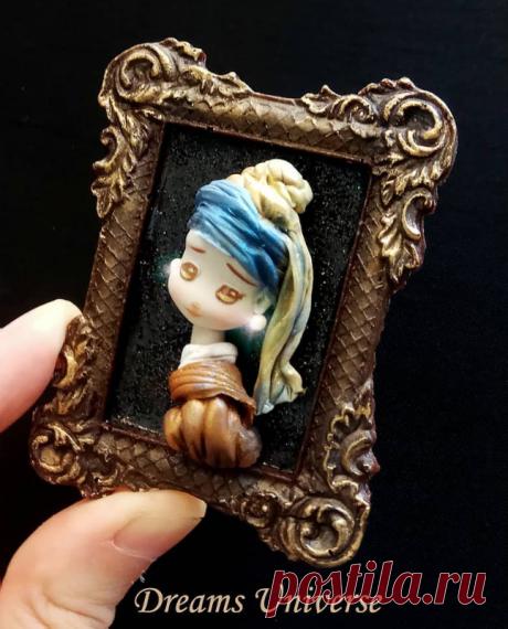 """по мотивам картины """"Девушка  жемчужной сережкой""""  Ян Вермеера."""