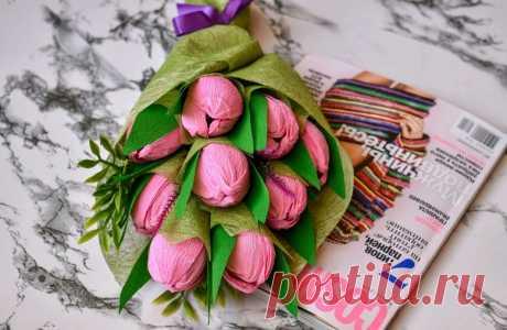 Тюльпаны из бумаги своими руками + шаблоны и схемы