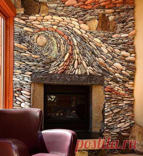 Самое теплое местечко в доме: 40 восхитительных каминов