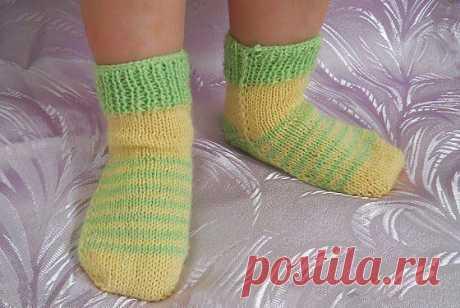 Очаровательные бесшовные носочки