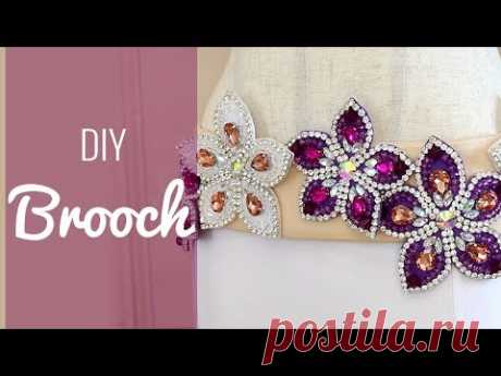 How to Make a Brooch from an Applique