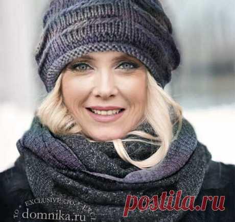 Вязаные шапки, шапочки и береты для женщин 60 лет - 8 новых моделей на зиму 2021 года