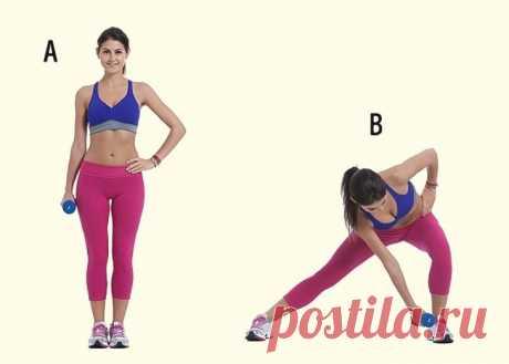 7 простых упражнений для упругих ягодиц, бедер и стройных ног | Диеты со всего света