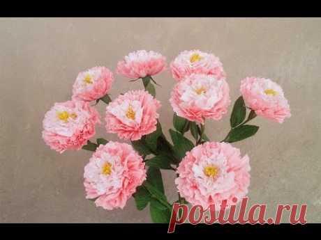 Как сделать легкие бумажные цветы из гофрированной бумаги - Craft Урок 2