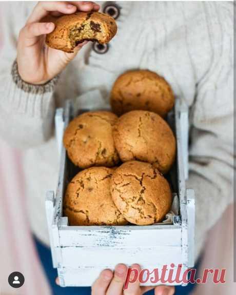 Бомбически вкуснее печенье с шоколадом.