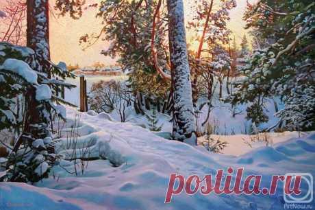 Зима в творчестве художника Александра Самохвалова