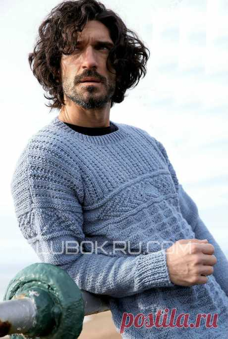 Мужской пуловер «Элементы Ганси» от Pat Menchini - Klubok.ru.com