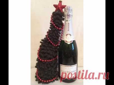 LKA a la botella De h - 1 CHRISTMAS TREE on the bottle crocheting P - 1