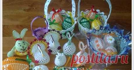 Wielkanocne szydełkowce - koszyczek z jajeczkami Wielkanoc coraz bliżej, a u mnie nadal mało świątecznie. Pojawiło się jedno jajko i koniec?  No nie... przecież cały czas tworzę, ciągle mac...
