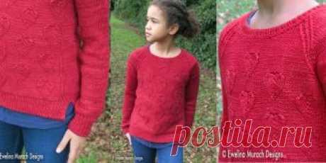 Детский свитер с сердечками Heart Детский свитер с узором из сердечек вязаный спицами. Потрясающе красивый и очень милый пуловер. Узор, которым украшен этот свитер, подойдет как маленькой девочке, так и смелой и уверенной в себе женщине.