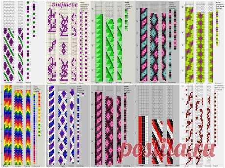 50 схем для вязания жгутов на 5-6 бисерин Вязание с бисером – Бисерок Схемы для вязания жгутов из бисера. Красивые и простые. 50 схем для вязания жгутов.