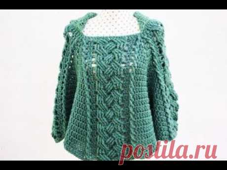 Poncho or coat of woman to crochet MAJOVEL very easy and fast #crochet #ganchillo # easy