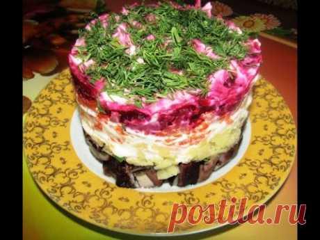 Постный салат «Грузди под шубой» (+ВИДЕО) - Затейка.com.ua - рецепты вкусных десертов, уроки вязания схемы, народное прикладное творчество